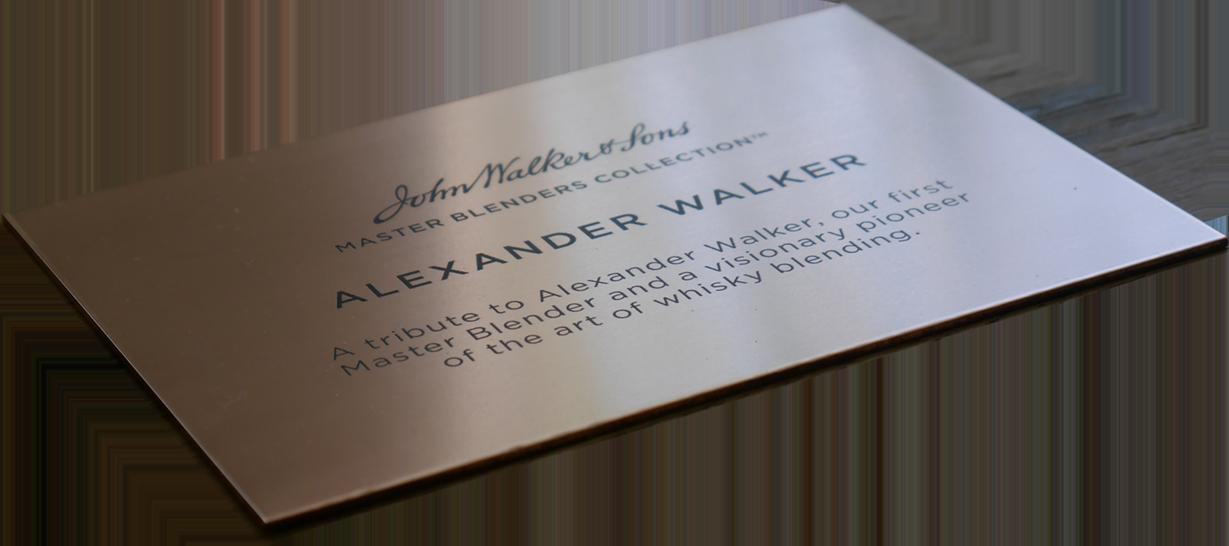 Laser gravering voor Johnnie Walker